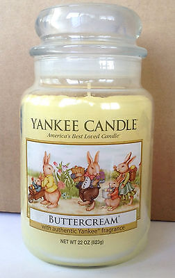 Yankee Candle Vintage Easter Bunny Buttercream 22 Oz Jar Candle Extremely Rare