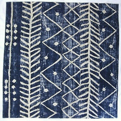 7y ralph lauren ethnic chic galapagos cotton/jute print fabric 5 yards blue