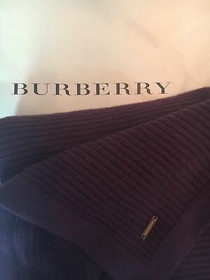 Nwt, Burberry Home Authentic 100% Cashmere Throw Ribbed Blankets Wrap 140x190 Cm