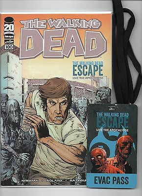 The Walking Dead #100,sdcc,comiccon Escape Variant,+escape Course Pass,negan,2nd