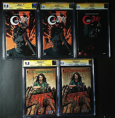 Outcast 1,cgc,sketched,walking Dead #127 3x Signed,2nd Print,#2,thief Of Thieves