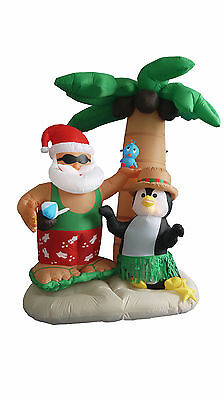 Christmas Inflatable Air Blown Blowup Decoration Santa Claus Penguin Palm Tree