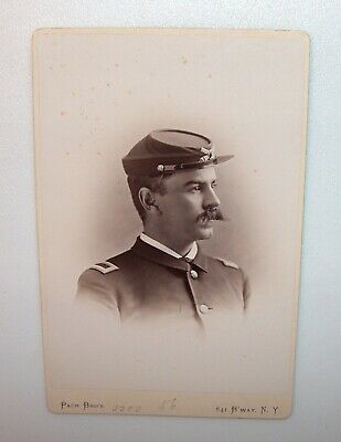Antique Cabinet Card Dennis Mahan Michie Father Of Army Football West Point 1882
