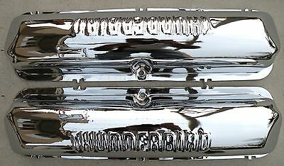 X Ford Thunderbird Fe 390 427 428 Chrome Valve Rocker Arm Covers 1958-1969 58-69