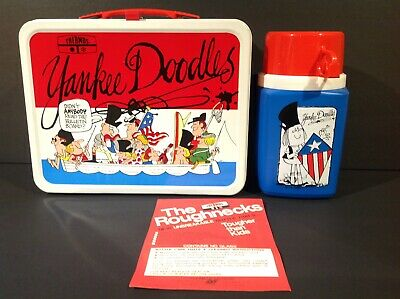 1975 Yankee Doodles Vintage Metal Lunch Box With Thermos Near Mint Unused Rare