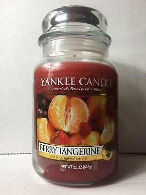 Yankee Candle Berry Tangerine 22 Oz Jar Candle Used Retired Hard To Find Rare