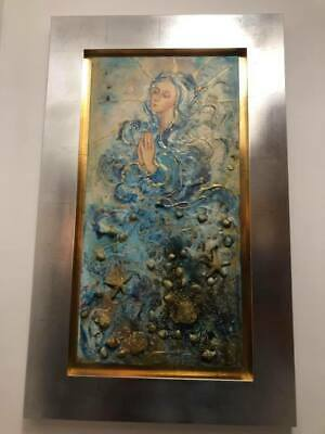 Mary Oil Painting, Extremely Unique/ Mixed Media, Large