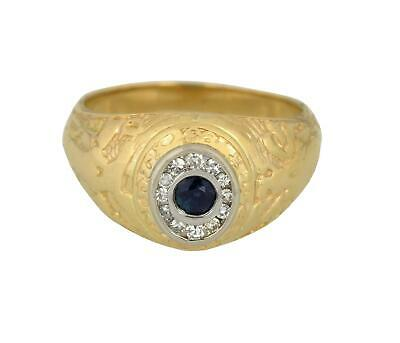 Rare 1937 Tiffany & Co. West Point Military 14k Gold Plat Sapphire Diamond Ring