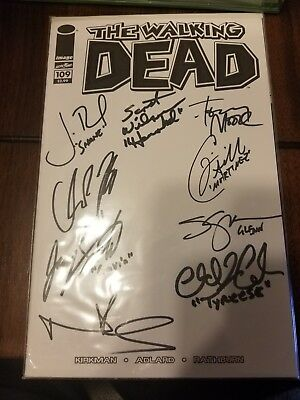 Walking Dead Auto Comic X9 Stars Norman Reedus, Steven, Scott, John + Many...