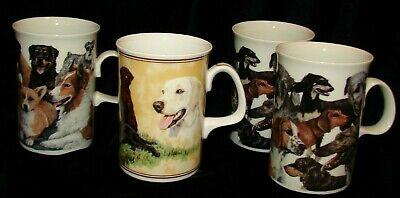 1 Border Fine Arts & 3 Dunoon All Scotland Cups Of Dogs Labradors & Variety +1