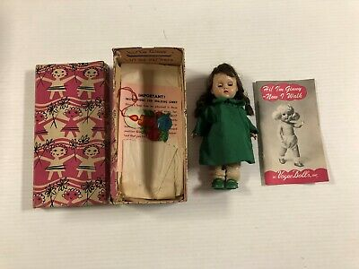 """Vogue Dolls  Ginny Original Box """"undressed Walking Doll"""" # 5  With Papers  Rare"""