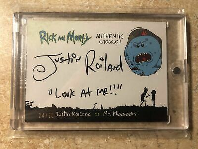 Cryptozoic Rick And Morty Season 1 Justin Roiland Meeseeks Autograph #d 47/50
