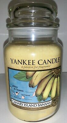 Yankee Candle Canary Island Banana 22 Oz White Label Rare Htf