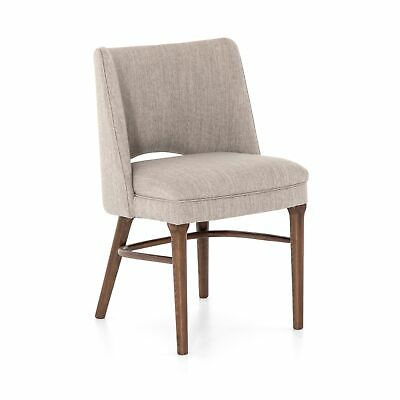 """33"""" Set Of Two Modern Dining Chair 92% Polyester 8% Linen Parawood Flannel"""
