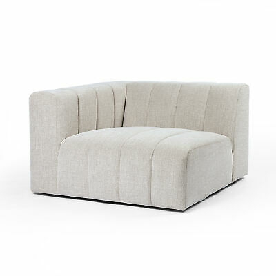 """44"""" W Donnino Corner Sectional Vertical Channeling 100% Polyester Modern"""