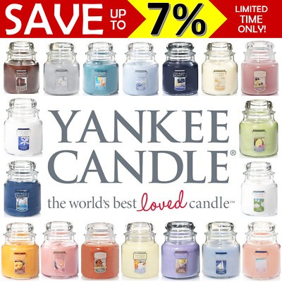 New Yankee Candle Jar Classic Scents 75hr Burn Time 411g Natural Oils Medium
