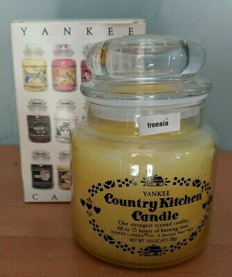 Rare Yankee Country Kitchen Candle Freesia Net Wt.14.5oz New In Box Free Ship