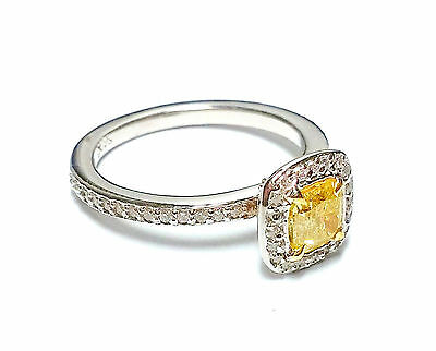 1.07ct Fancy Intense Yellow Diamond Engagement Ring 14k Canary Vs2 All Natural