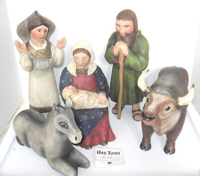 """Leo Smith Christmas """"our Town""""  Full Nativity  Midwest Of Cannon-  Dept 56   New"""