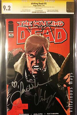 Walking Dead # 75 Cgc 9.2 Angry Rick Signed 3x Norman,riggs,sarah