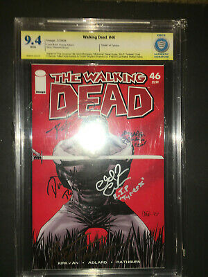 Walking Dead #46 Signed David M, Danai G,chad C, Kyla K, Brighton S, Graded 9.4