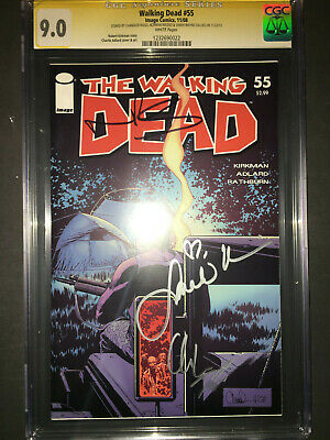 The Walking Dead #55 Signed Chadler,norman ,sarah Graded 9.0