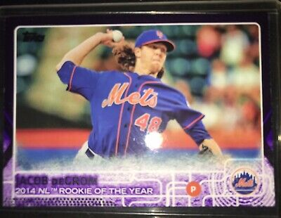 Only One On Ebay! 2015 Topps Toys R Us Purple Series 2 Jacob Degrom #387 Look!!!