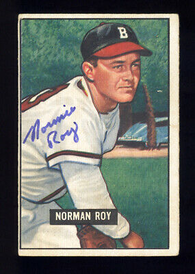 1951 Bowman Baseball Card #278 Norman Roy Autographed Signed Boston Braves Rare