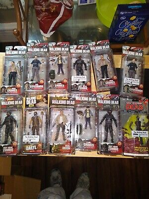 The Walking Dead Figures Lot Of 12 Mcfarlane Toys