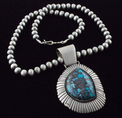 natural china mountain turquoise necklace by calvin martinez and jan mariano