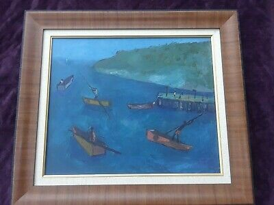 """Wonderful Painting By Haitian Prodigy Manes Descollines   20""""x24""""    Very Rare"""