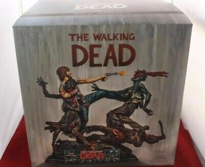 Mcfarlane The Walking Dead Rick Grimes Resin Statue Signed By Kirkman Sold Out