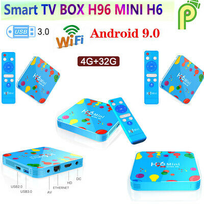 5pcs Smart Tv Box H96 Mini 32gb Android9.0  Quad Core 6k Wifi Media Player Q4n7