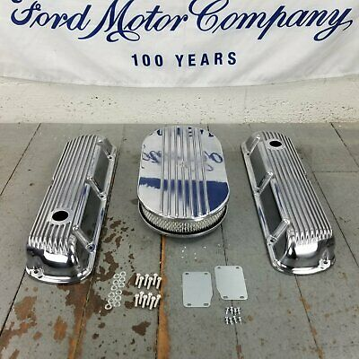 Ford Sbf 15 Half Oval Finned Engine Dress Up Kit Breather Holes 289 302 351w V8