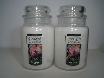 "Yankee Candle, (2) 22 Oz. Jars ""sugared Apple"" Just Released For 2019"