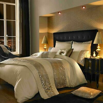 Kylie Minogue Leopard Ivory Super King Size Set Duvet Cover, Throw, Cushions