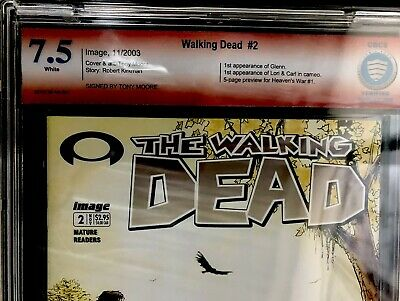 The Walking Dead 2 Signed By Tony Moore Cbcs 7.5 Hot !! 1st Print