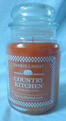 Yankee Candle Hot Buttered Rum 22 Oz. Large Jar Retired Scent Country Kitchen