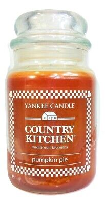 Yankee Candle Country Kitchen Pumpkin Pie 22 Oz Large Jar Candle Full!