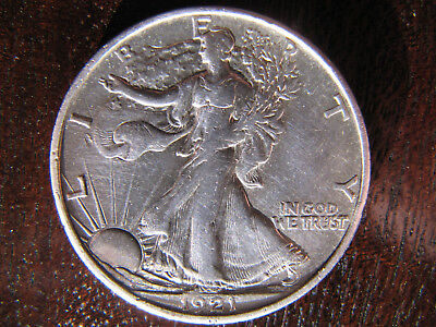 1921-s Pcgs Genuine Xf Details Silver Walking Liberty Half Dollar 50 Cents