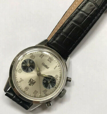 Gallet Chronograph - Military Issued Engraved – Valjoux 23 - Vintage Wrist Watch