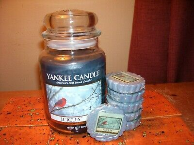 Last Chance Yankee Candle 22oz Jar Icicles + 6 Tarts - Original 2011 Label