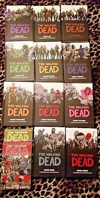 The Walking Dead Lot Of Hardcover Book 5-15 Set Plus Graphic Novels 31-32 Zombie