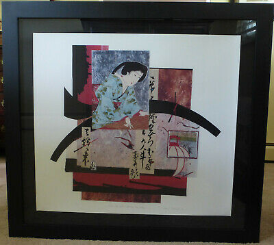 Daryl Howard Woodblock Print Collage Signed 9/100 Lithograph 2000