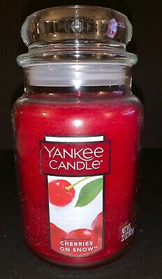 Yankee Candle Cherries On Snow 22 Oz Large Jar Candle