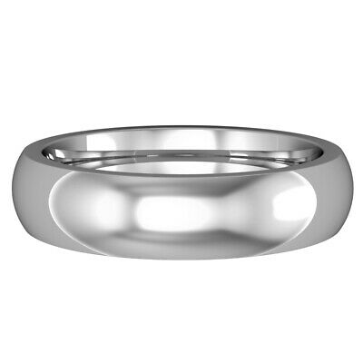 18ct White Gold 5mm Premium Court-shaped Wedding Band Commitment Ring