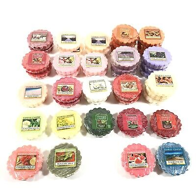 Yankee Candle Wax Melt Tarts Lot Of 43 Assorted Scents And Seasons