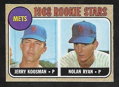 Awesome Cigar Box Find 1968 Topps #177 Nolan Ryan Rc Pack Fresh Mint Centered