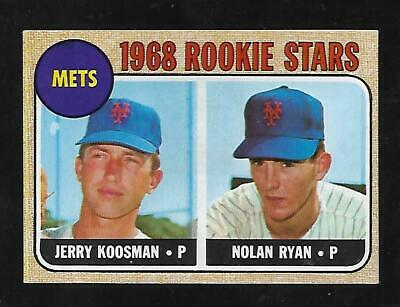 Awesome Cigar Box Find 1968 Topps #177 Nolan Ryan Rc Pack Fresh Mint