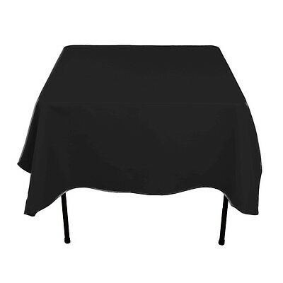 Square Plain Table Cloth Cotton Wedding Dining Tableware Linen 54 X 54 Inch
